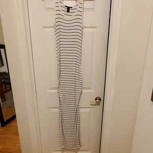 Sexy maxi dress with rushing